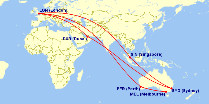 This is What You Need to Know with the New Qantas London ... Qantas Route Map on nok air route map, direct air route map, maldives air route map, thai route map, air canada route map, delta route map, cathay pacific route map, island air route map, tap air portugal route map, tiger air route map, lot polish route map, air niugini route map, ba cityflyer route map, independence air route map, lan ecuador route map, key lime air route map, dragonair route map, biman route map, qatar airways route map,
