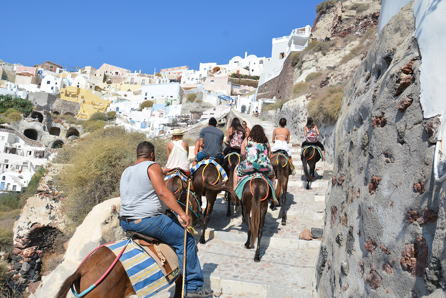 Banned: Overweight Tourists to Santorini | The Seat in the ...